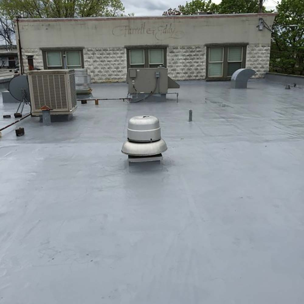 Spray on Foam on commercial roof