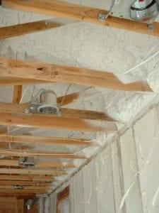 Spray Foam insulation on the interior.