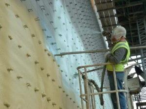 Demilec HFO sprayed on exterior for Continuous Insulation