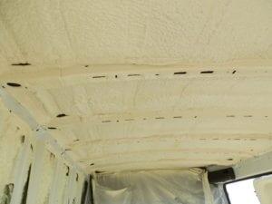 Icyene sprayed in cargo bay on freezer van.