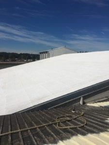 St. Helens Icyene Lapolla Roofing foam with acrylic