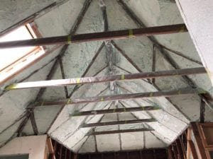 Closed Cell foam on non-vented vaulted ceiling.
